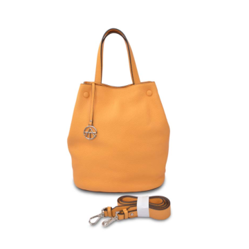 Yellow Ladies Bucket Bag Large Capacity