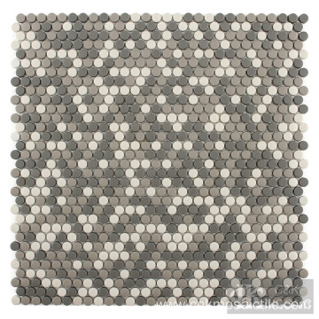 Grey Mix Recycled Mosaic in Small Roud
