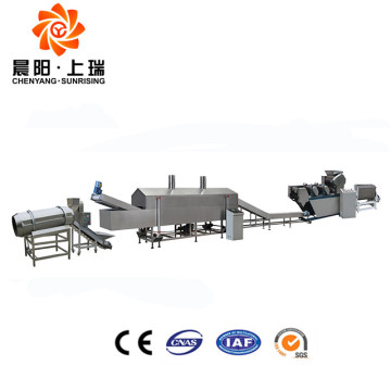 Automatic frying flour snack food processing machine