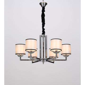 Modern Living Room White/ Black Lampshade Chandelier