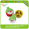 Cake Shaped Christmas Erasers