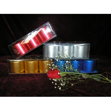 Smokeless PVC Box Packed Metallic Pillar Candle