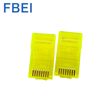 Yellow Color Rj45  Cat connectors