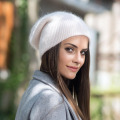 Winter wool cap with a thickened edge pullover
