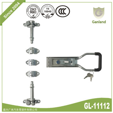 Van container external rear door lock set