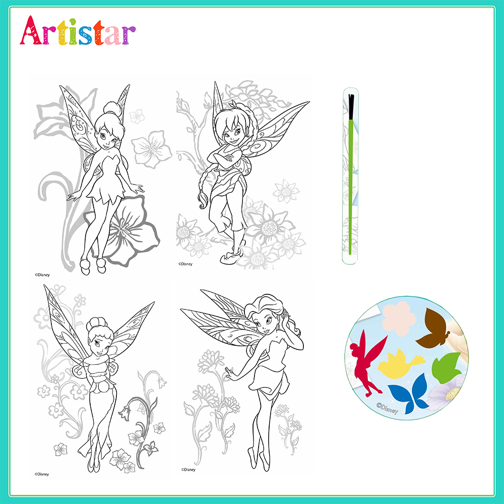 Disney Fairies Colouring Set 02