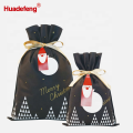 Christmas Santa Gift Wrapping Bag Black Color