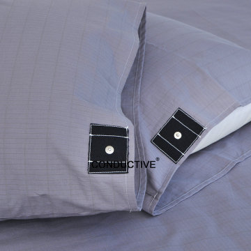 Gray color grounding bed pillowcase