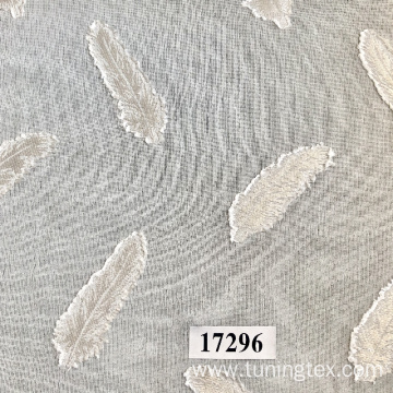 Polyester Jacquard Fabric With Feather Design