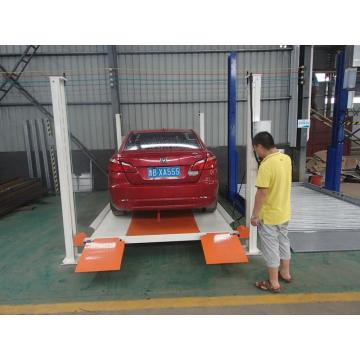 4S Shop Hydraulic Motor 4 Column Parking Platform