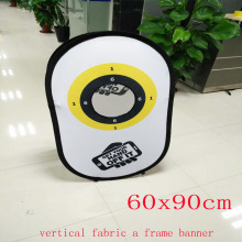 Fabric Vertical Pop Up Banner Stand Printing