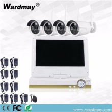 "4chs Wireless Wifi Camera Kits with 10.1"" Screen"