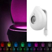 2020 New LED Toilet Light PIR Motion Sensor Night Lamp 8 Colors Backlight WC Toilet Bowl Seat Bathroom Night light for Children