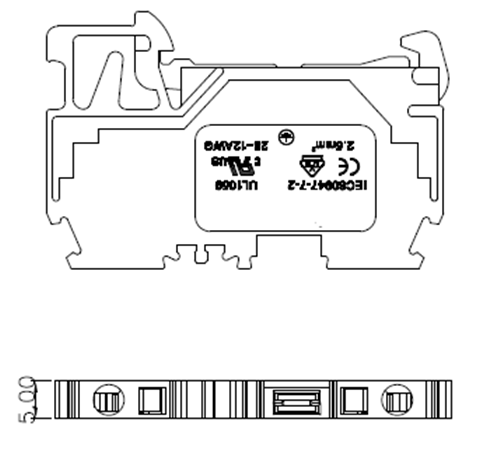Spring Cage din rail terminal connectors