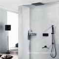 Wall Mounted Brass Black Shower Faucet Set
