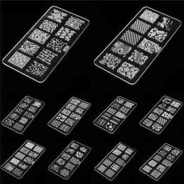 Random Style Acrylic Nail Art Templates Image Stamp Stamping Plate DIY Manicure Printing Design Polish Accessory Tools