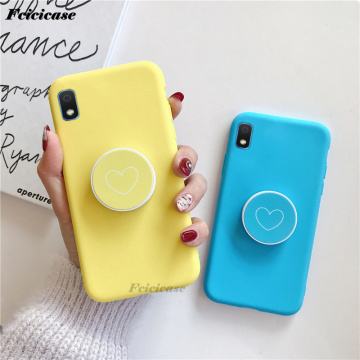 A10E Love Heart Stand Holder Case For Samsung Galaxy A10E SM-A102U SM-A102N SM-A102W Silicone Back Cover