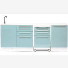 Dentist dental side cabinet with sink