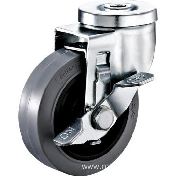 5inch Hollow Rivel Swivel Anti-static TPR Castors With Side Brake