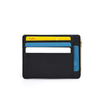 Amazon Hot Style Back 100% Saffiano Leather Cardholder