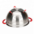 Perforated Colander Set with Handle and Solid Base