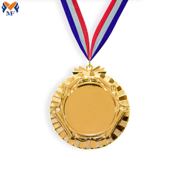 Cheap blank insert metal design medals