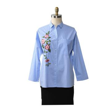 Women Floral Ethnic style Embroidered Blouse