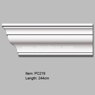 Big Size Plain Polyurethane Decorative Cornice Molding
