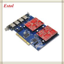 New Wholesale TDM410P Asterisk PCI card 4 FXS/FXO analog voice telephony card Asterisk/Trixbox/Elastix/Freeswitch IP PBX