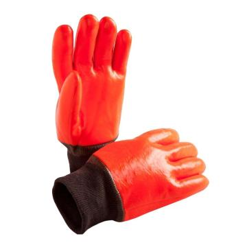 Orange Fully coated winter work gloves