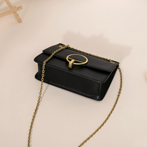 Black Leather Crossbody Sling Bag Design for Ladies