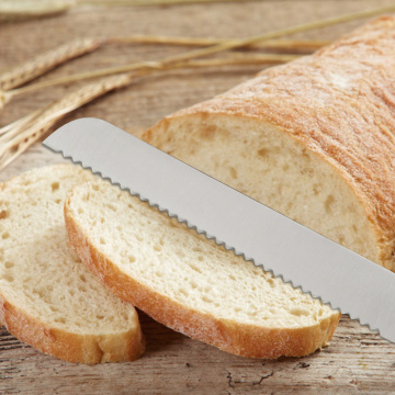 Stainless steel hollow handle bread knife
