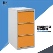 3 Drawer steel office furniture filing cabinet