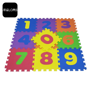 Melors Interlocking EVA Children Play Number Puzzle Mat