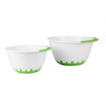 Plastic mixing bowl set With Handle And Base