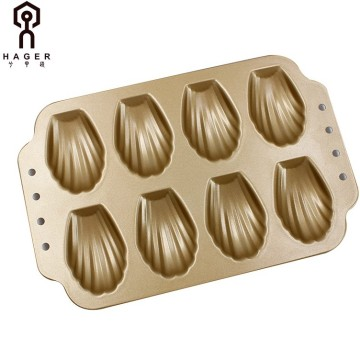 8 Cups Nonstick Shell Shaped Baking Mould