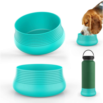 Flexible Silicone Boot Sleeve Travel Pet Bowl