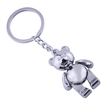Newly Style Special Design Metal Personalized Silver Keyring