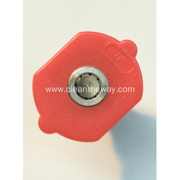 High Pressure Chewing Gum Romoval Nozzles Red Color