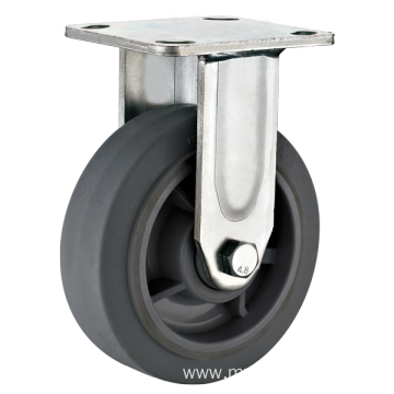 6inch Fixed Heavy duty Flat TPR Casters