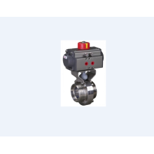 Hygienic Pneumatic External Thread Butterfly Valve