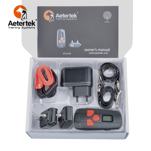 Aetertek AT-211D dog shock collar 2 receivers