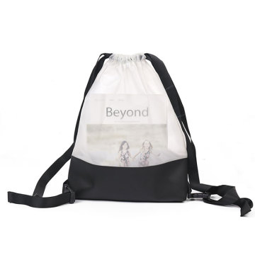 Waterproof Clear PVC Transparent Drawstring Bag