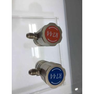 R744 QUICK COUPLER FOR REFRIGERANT CHARGING
