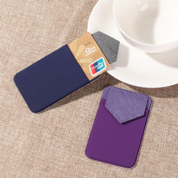 New Cellphone Card Holder Stick-on Wallet Phone Wallet Case Elastic Adhesive Wallet Universal Cellphone Wallet Phone Pocket