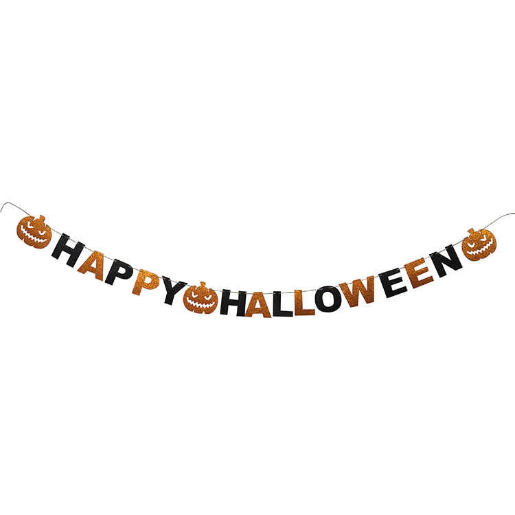 Happy Halloween Letter Pattern Banner