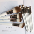 12White Quick Dry Synthetic Hair Cosmetic Brush Set