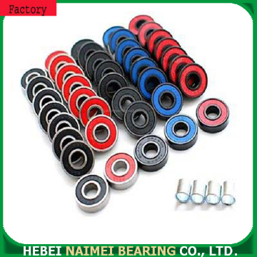 Colored 608 longboard bearings with good lubricant