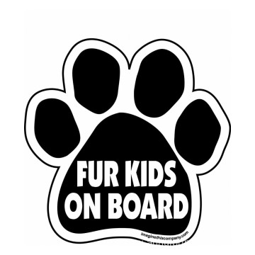 Paw Magnet Die Cut Car Sticker
