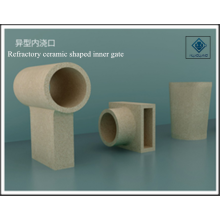 Refractory ceramic shaped inner gate